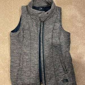 North face women's vest in heather blue!